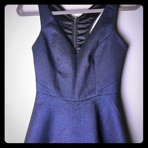 Express metallic navy blue mini dress